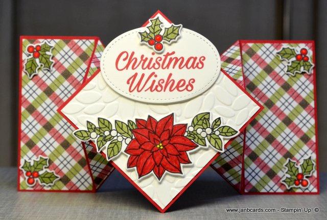 Diamond Fold Christmas Card Video Janb Cards