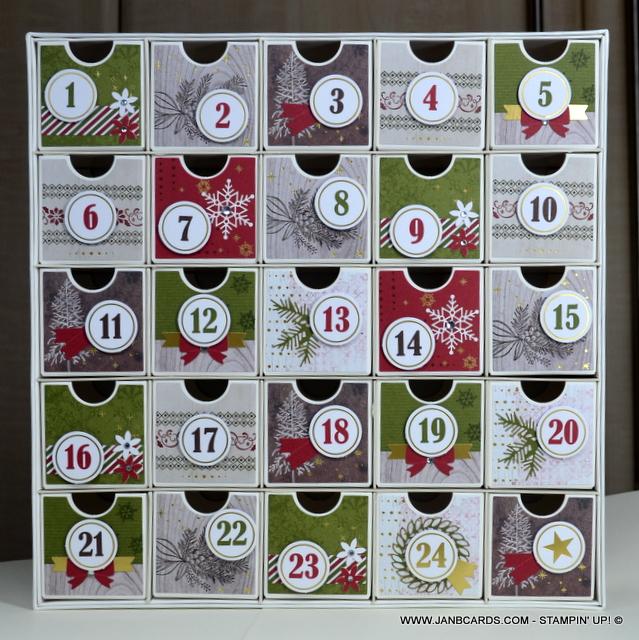 Christmas Countdown 2019.Advent Calendar Christmas Countdown Project Kit Janb Cards