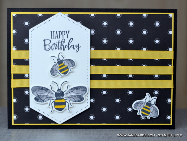 Bee Card Hand Painted Card Bumble Bee Birthday Card Birthday Card Handmade Birthday Card Bumble Bee Card Bee Birthday Card