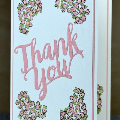 Ornate Style Simple Thank You Card
