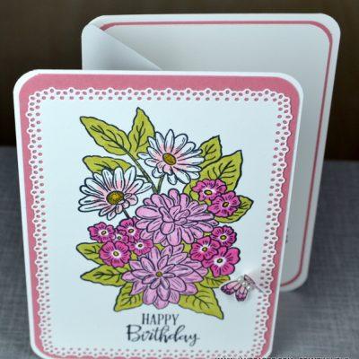 Z-Fold Ornate Garden Birthday Card