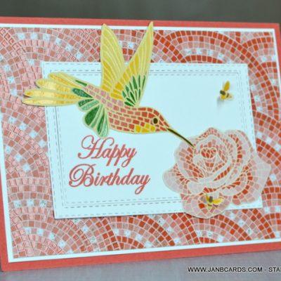 Mosaic Mood Designer Series Paper Birthday Card