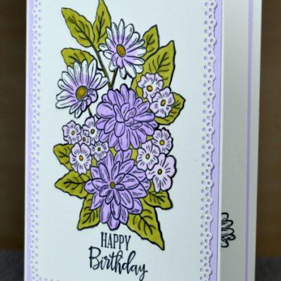 Ornate Garden Birthday Card
