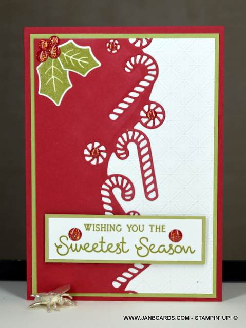 Sweetest Candy Cane Border Christmas Card Janb Cards