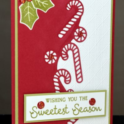 Sweetest Candy Cane Border Christmas Card