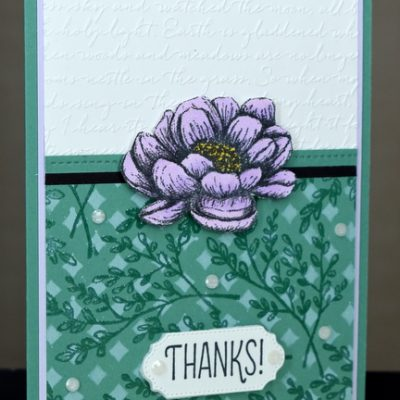 Tasteful Touches Thank You Card