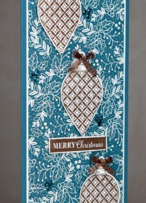 Christmas Gleaming Slimline Card