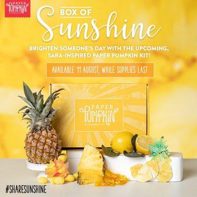 Paper Pumpkin Box of Sunshine