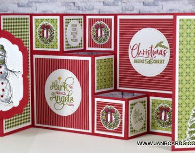 COASTAL CABANA Fanciest Fancy Fold Card Ever Video!