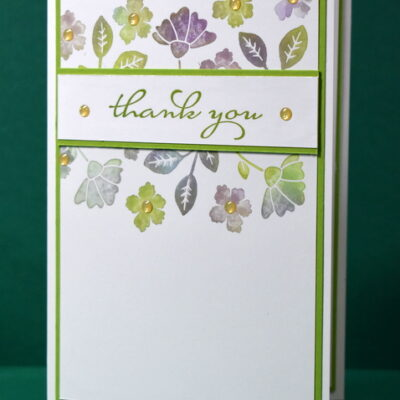 Lovely You Baby Wipe Thank You Card
