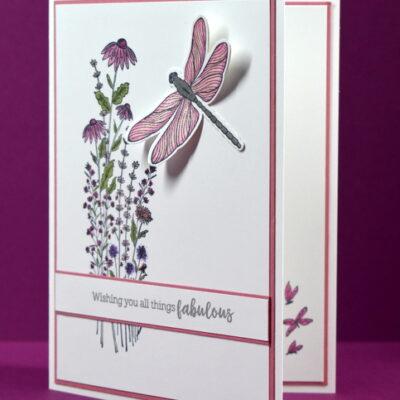 Dragonfly Garden Greeting Card