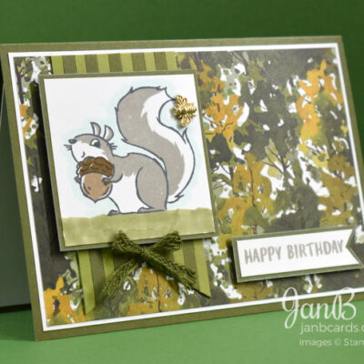 Nuts About Squirrels Birthday Card