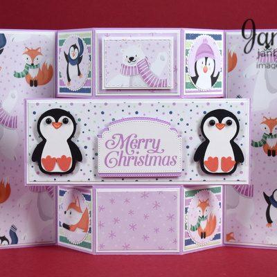 Triple Panel Fancy Fold Penguin Card Video
